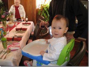 Evelynn & Oma, Easter Dinner