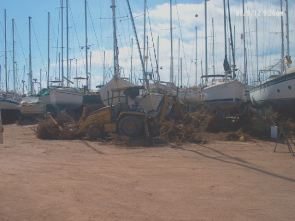 San Carlos boat yard clean up