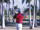Golfing in Mexican Caribbean