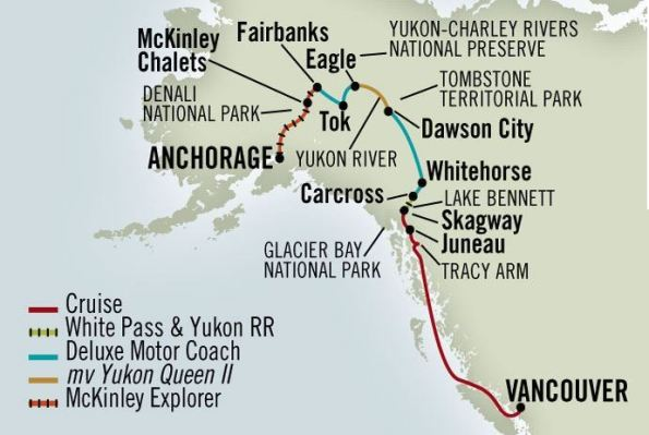 Alaska Cruises 13 Day Klondike Denali Adventure Alaska Plus 7 Day Southbound Discovery Cruise